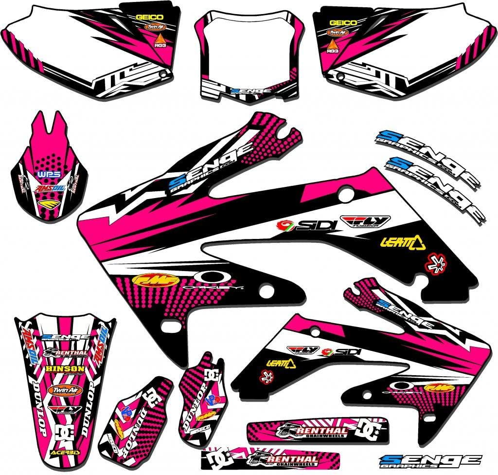 Senge Graphics Kit Compatible with Honda 2003-2013 CR 85 Mayhem Black Graphics kit