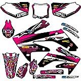 Senge Graphics 2004-2012 Honda CRF 50 Mayhem Pink Graphics kit