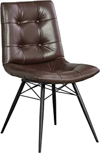 Coaster Home Furnishings Tufted Upholstered Brown and Gunmetal (Set of 4) Side Chair