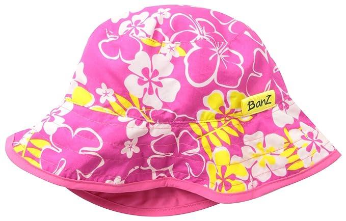 39b4efc52 Amazon.com: Baby Banz Girls' Reversible Sun Hat, Sun Blossom, 0 2 ...