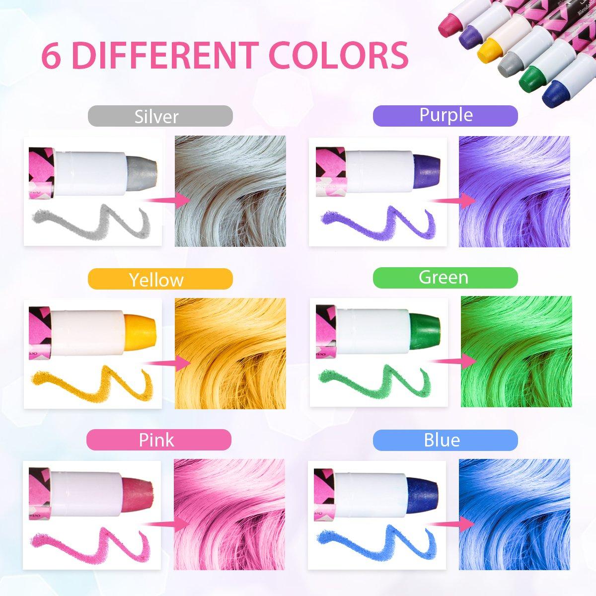 Amazon 6 Colors Temporary Hair Chalk Pens Luckyfine No Mess