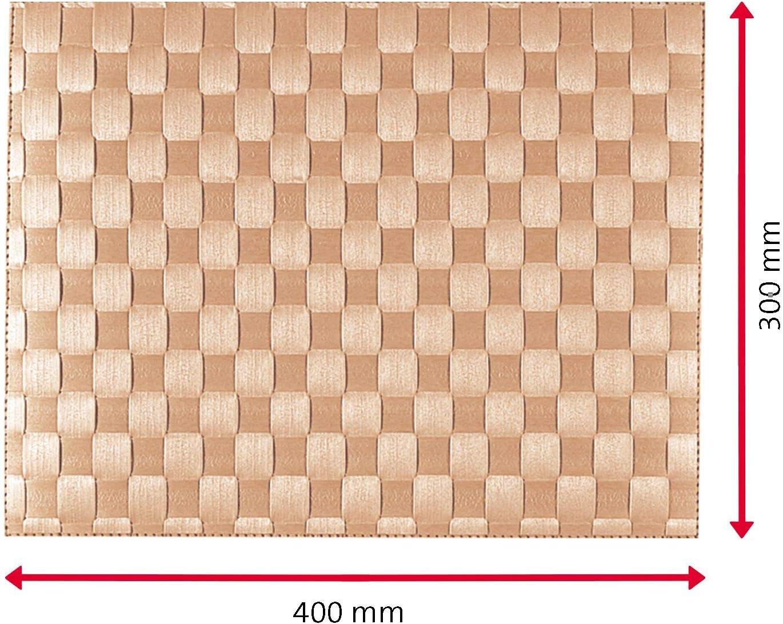 12 St/ück 40 x 30 cm Lebensmittelecht Polypropylen Gewebe Grau//Anthrazit Saleen Edition: Classic 101 Abwischbar Westmark Tischsets//Platzsets