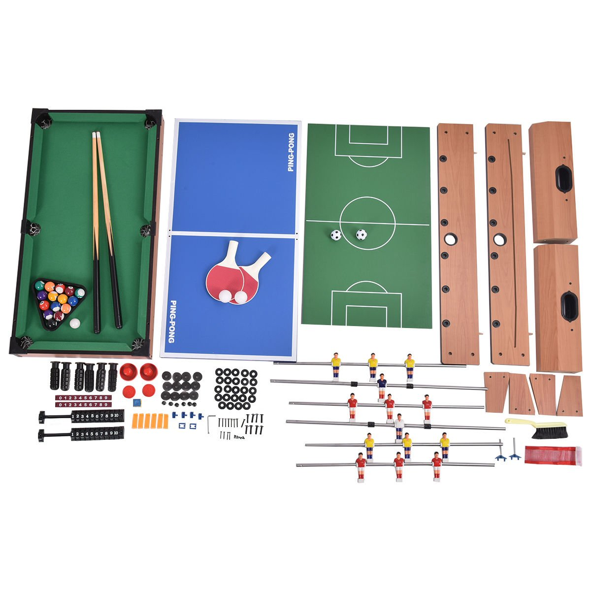Nice Amazon.com : Giantex 4 In 1 Multi Game Table Pool Air Hockey Foosball Table  Tennis Billiard Combination Game : Sports U0026 Outdoors