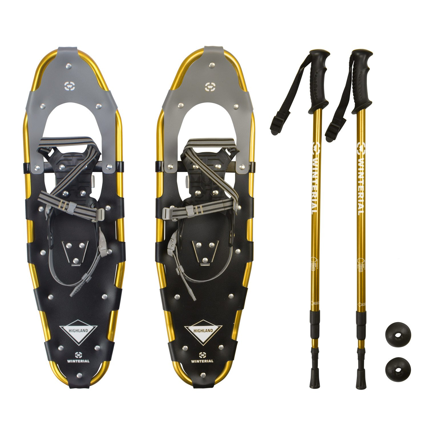 Winterial Highland Snowshoes, Recreational Snow Shoes/Adult/Backcountry/Rolling Terrain Snowshoes/POLES INCLUDED! by Winterial