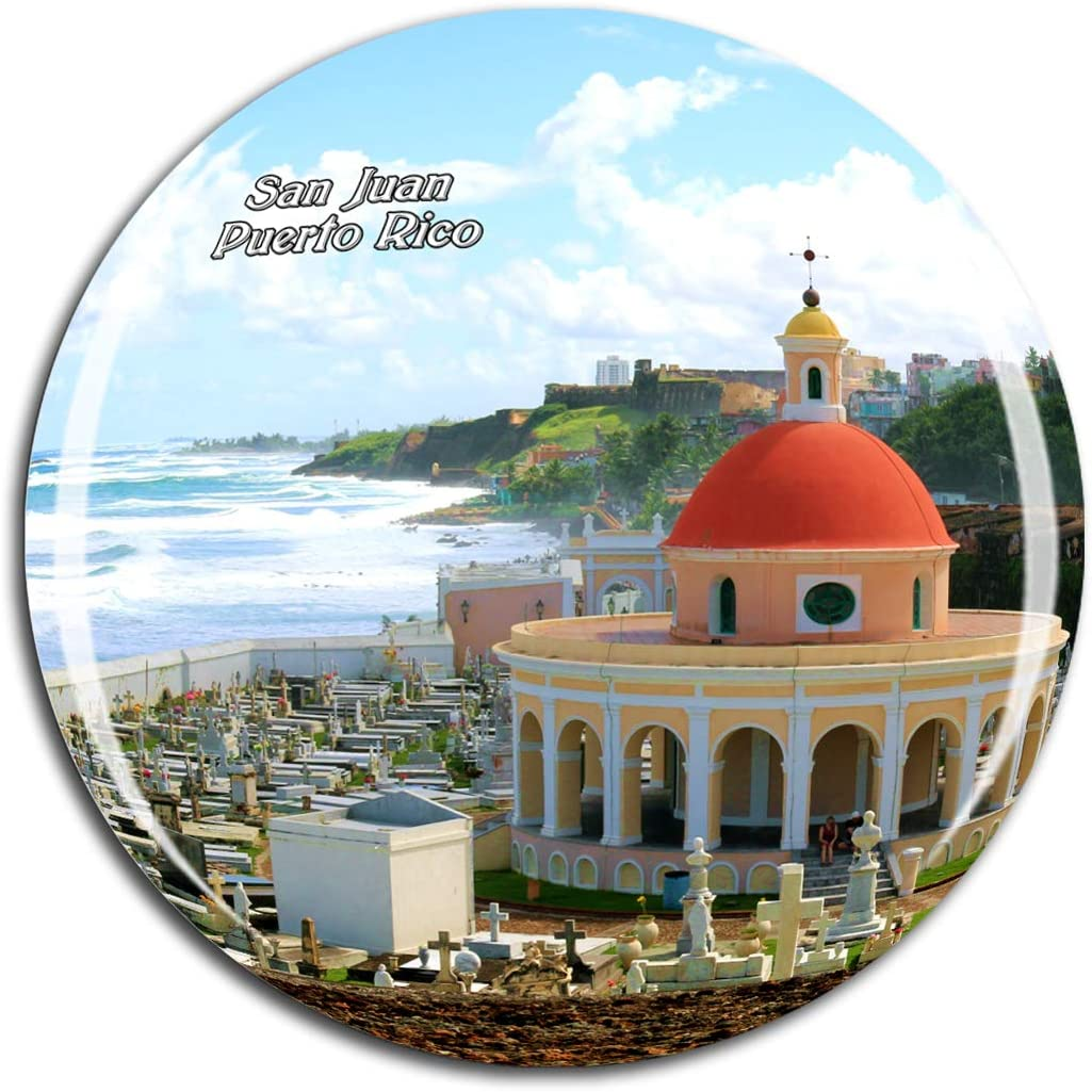 Weekino Old San Juan Puerto Rico Fridge Magnet 3D Crystal Glass Tourist City Travel Souvenir Collection Gift Strong Refrigerator Sticker