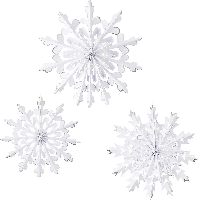 Martha Stewart 30068368 Paper Rosette Snowflakes Holiday Décor, White