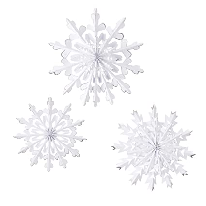 Paper Rosette Snowflakes Holiday Decor