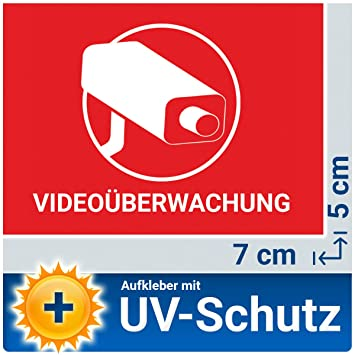 10x Videouberwachung Aufkleber Sticker Fur Innen Aussen