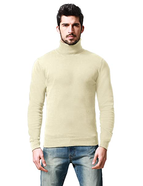 3d1d337db Match Mens Casual Basic Knitted Turtleneck Slim Fit Pullover Thermal ...