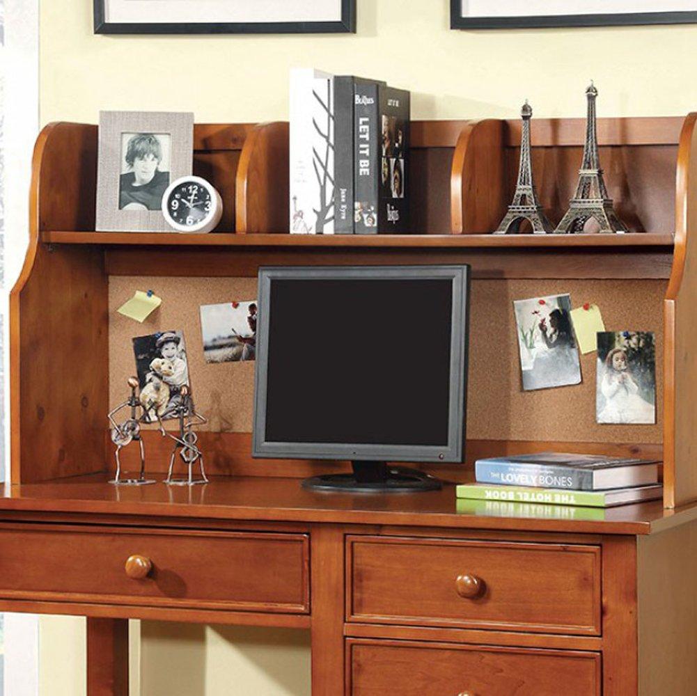Furniture of America CM7905OAK-HC Omnus Oak Hutch Miscellaneous-Home Office Desk