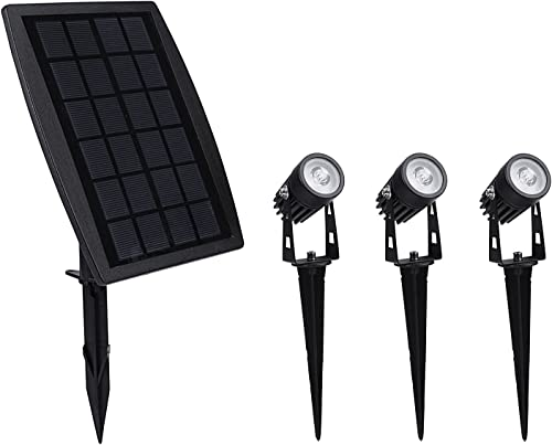 3-in-1 Solar Landscape Spotlights, Waterproof Solar Powered Landscaping Lights Outdoor Solar Up Lights for Garden Yard Driveway Porch Walkway Pool Patio