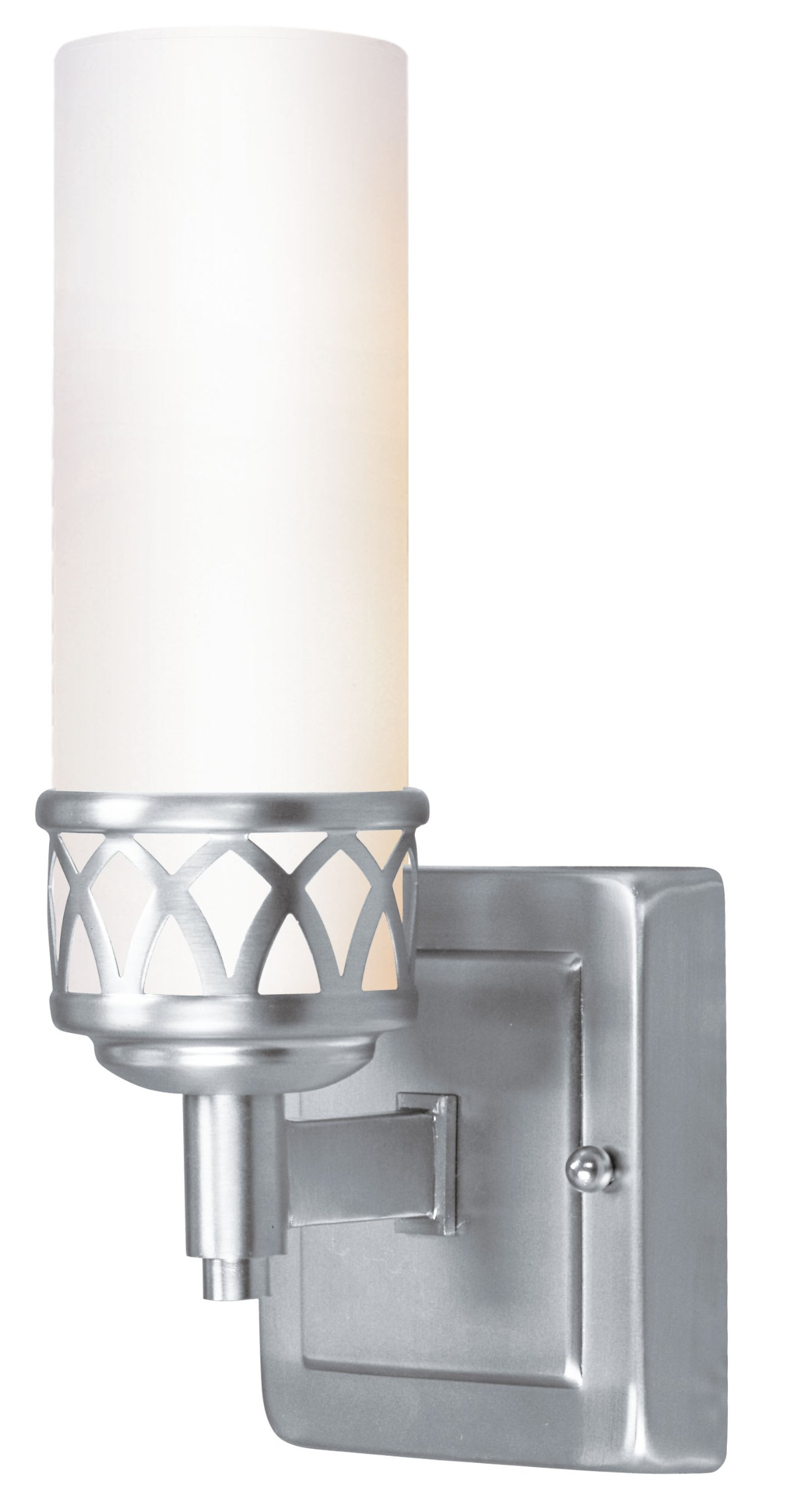 Livex Lighting 4721-91 Bath Vanity with Hand Blown Satin White Glass Shades, Brushed Nickel