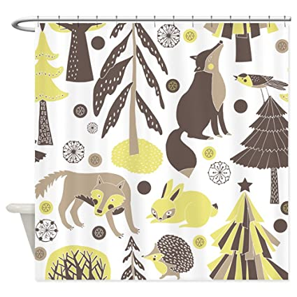 Image Unavailable Not Available For Color CafePress Woodland Animals Shower Curtain