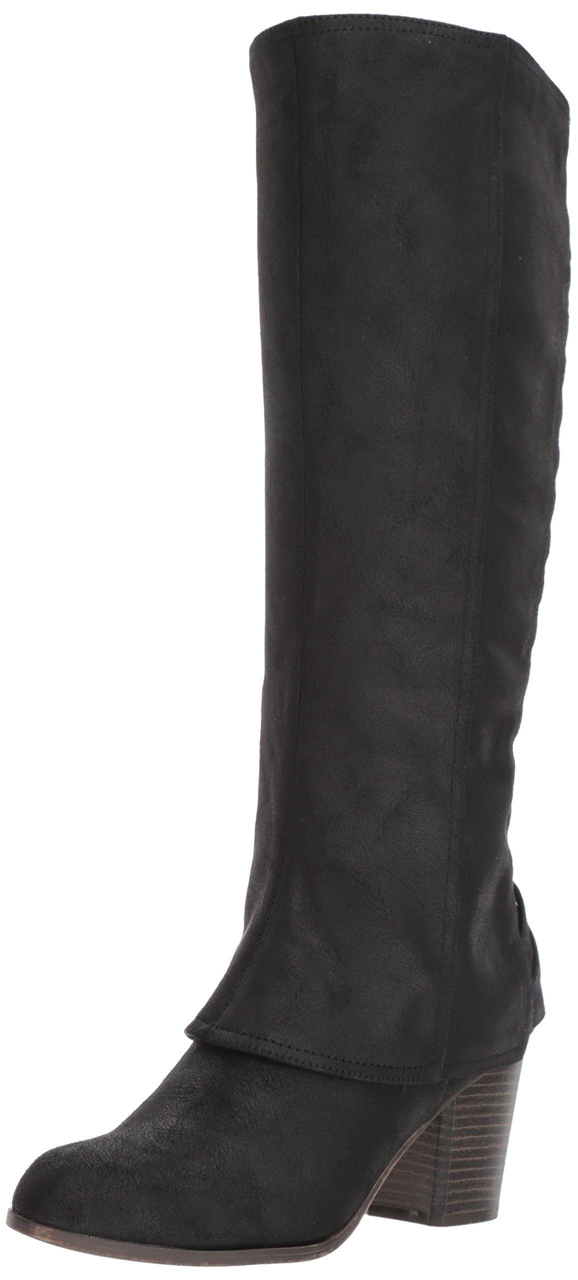 Fergalicious Women's Tootsie Knee High Boot, Black, 8.5 M US