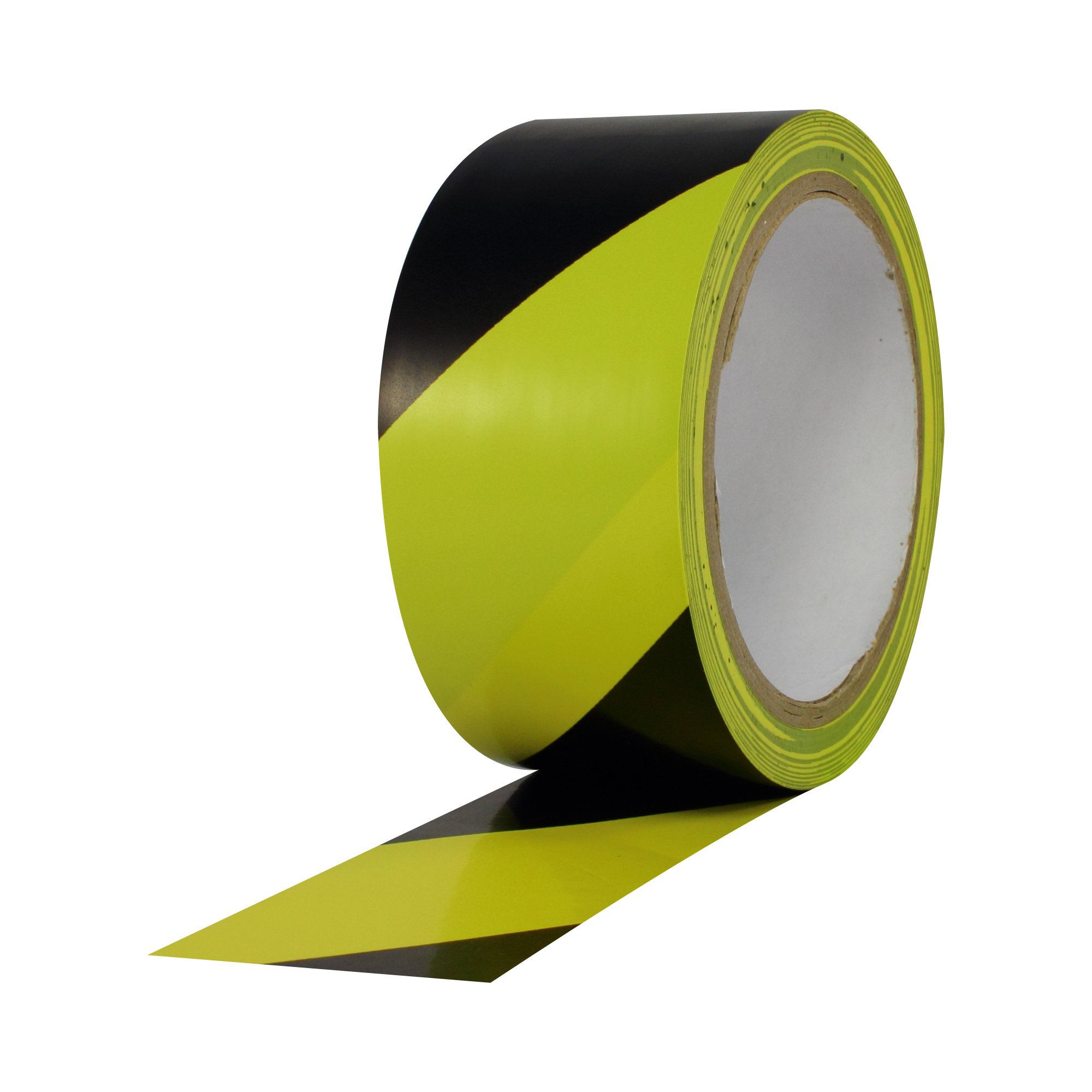 ProTapes Pro 48 PVC Vinyl Safety Stripes Tape, 18 yds Length x 3'' Width, 6 mils Thick, Black/Yellow (Pack of 1)
