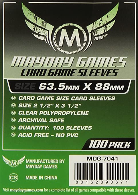 53 opinioni per Mayday Games MDG7041- Buste Protettive Carte, 63,5x88 mm, 100