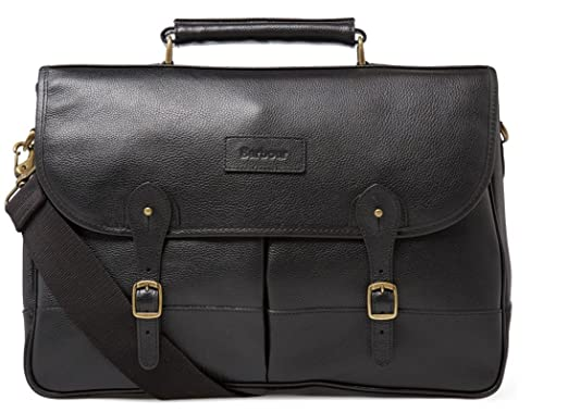 1b452750fef Image Unavailable. Image not available for. Color  Barbour Leather  Briefcase - Black