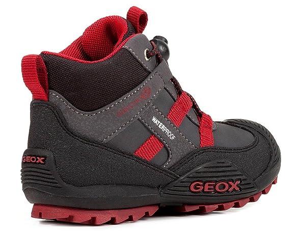 Geox J847GA Atreus WPF Jungen Stiefel, Übergangsschuh, Schnellverschluss, Wasserdicht, Fleece Fütterung, Atmungsaktiv, Wechselfußbett