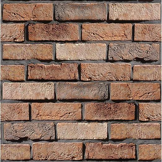 Amazon Com Peel And Stick 3d Brick Tile Backsplash Diy Stone Wall Panels Home Decals For Living Room Kitchen Bedroom Bathroom 6 Tiles Home Kitchen