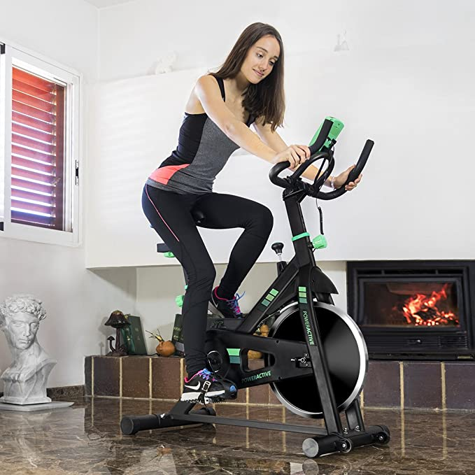 Cecotec Bicicleta Estatica Power Active 7018. V1700392, Adultos ...