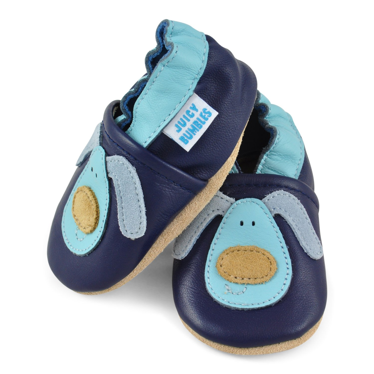 Soft Leather Baby Boy Shoes - Baby Shoes with Suede Soles - Dog 12-18 Months by Juicy Bumbles (Image #4)