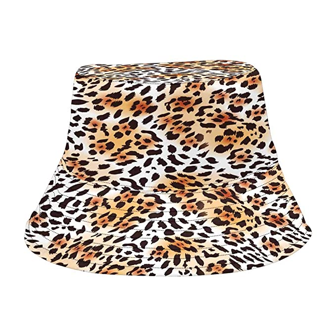 039ef30d710a Image Unavailable. Image not available for. Color: INTERESTPRINT Leopard  Skin Fishing Hat Travel Bucket Hat