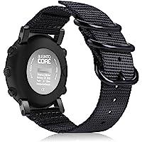 Fintie for Suunto Core Watch Band, Premium Woven Nylon Sport Strap with Metal Buckle for Suunto Core Smart Watch, Black