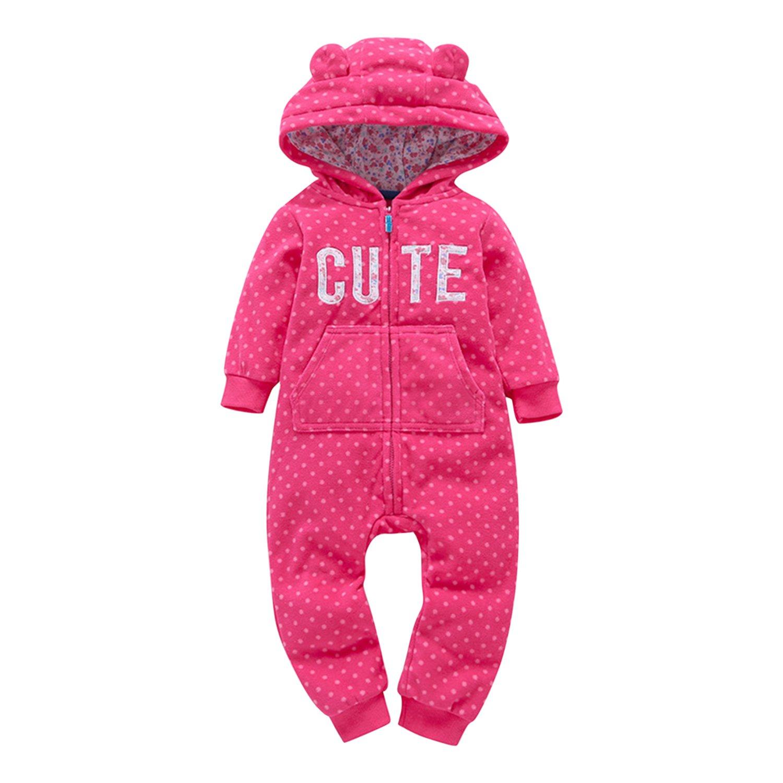 Baby Boys Girl Winter Fleece Romper Unisex Baby Animal Style Playsuits Snowsuit Evelin LEE FAL0579