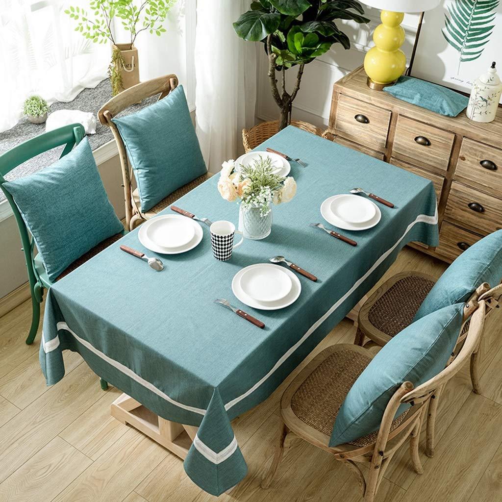 B 140100 Tissu de table en tissu imperméable à l'eau et à l'huile moderne simple coton et lin rectangulaire table à café jetable (Couleur   A, taille   140  220cm)