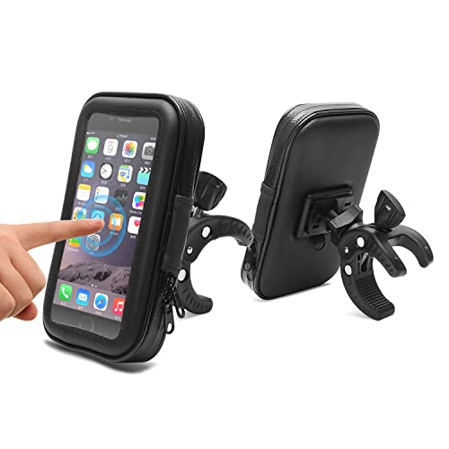 AEMIAO Bicycle Bag Bike Pouch, Cycling Pannier Top Tube Waterproof Handlebar Bags, Bicycle Bike Bag Touch Screen Compatible for Smartphone Up to 4.7-5.2 Inch