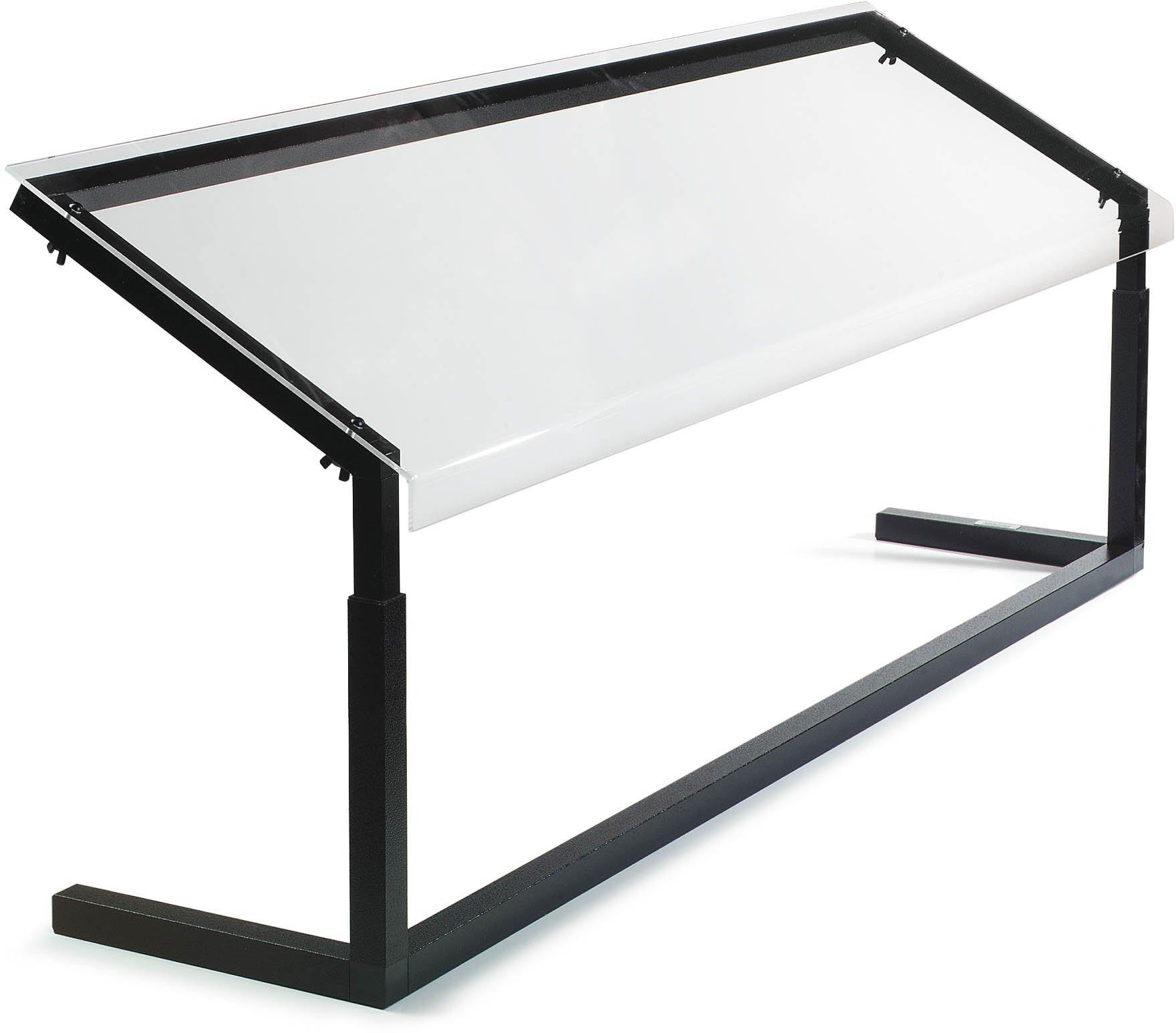 Carlisle 926003 Acrylic Adjustable Single-Sided Sneeze Guard with Aluminum Frame, 60-1/4 x 12.44'', Black