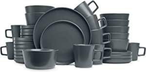 Stone Lain Coupe Dinnerware Set, Service For 8, Gray Matte