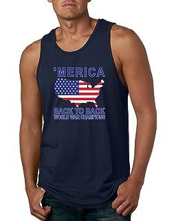 602cd69e Wild Bobby Back to Back World War Champs | Merica | Mens Americana/American  Pride
