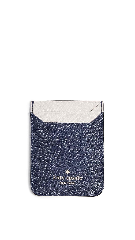 Kate Spade New York Triple Sticker Phone Pocket, Black, One Size
