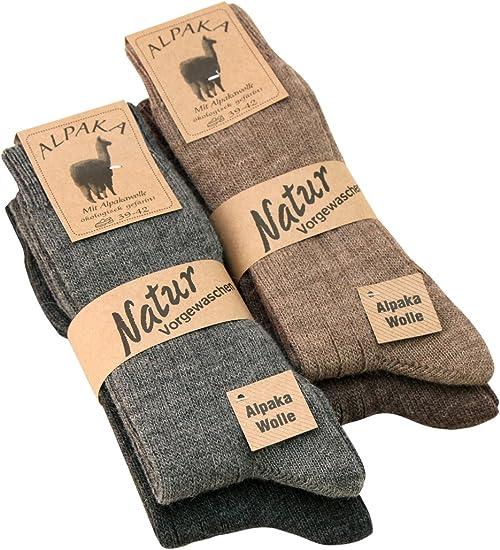 ALPAKA Wollstrümpfe Wollsocken warme Winterstrümpfe Socken
