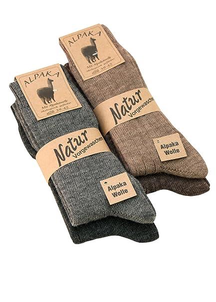 Alpaca-Calcetines de calcetines fina de lana para hombre y mujer lana con alpaca suave y cálido, 1, 2 o 4 pares: Amazon.es: Ropa y accesorios