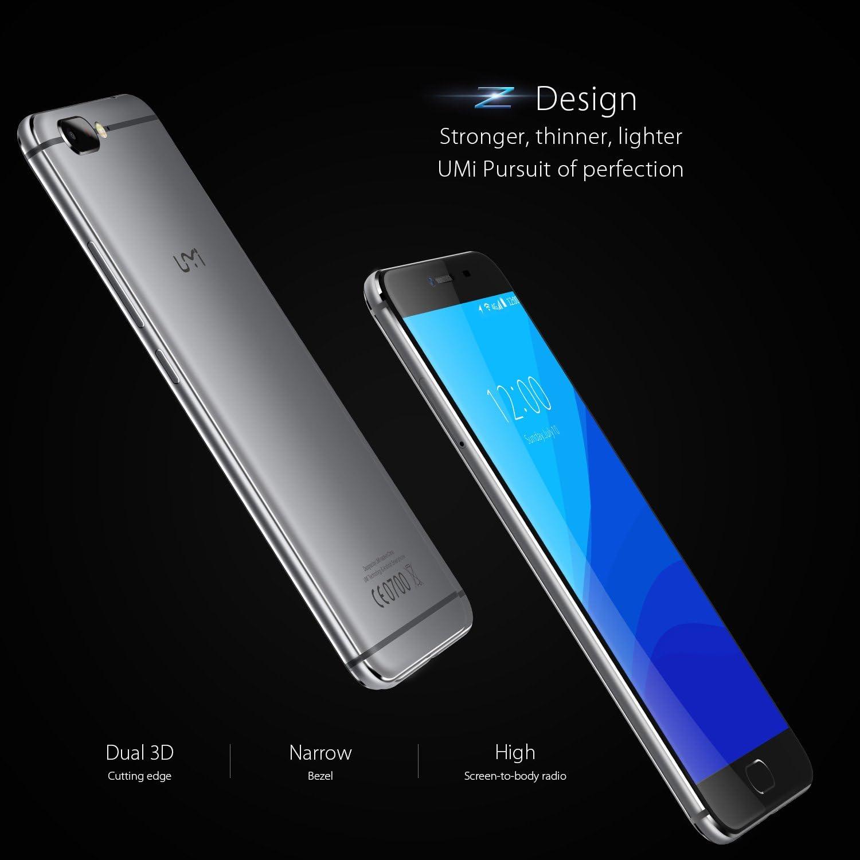 UMIDIGI Z Smartphone Libre Android (Pantalla 5.5 , 4G Doble SIM, Deca-core Helio X27 CPU 2.6Ghz, 4GB Ram 32GB Rom, Android 6.0 (Actualización Android 7.0), 3780mAh Batería, Cámara de 13 MP, Sensor