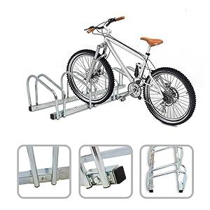Râtelier familial pour 5 vélos - Accroche vélo au sol ou mural en acier galvanisé