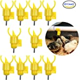 AKOAK 10 Pieces Poultry Water Nipples Drinker Feeders ,Sanitary Water for up to 30 Chickens,Turkeys,Geese or Ducks