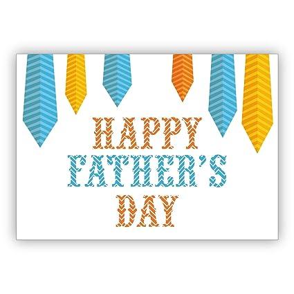 Hermosa tarjeta del día del padre para papá con corbatas: Happy ...