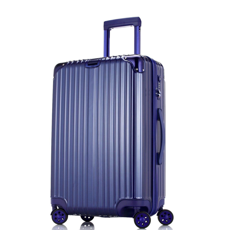 Unitravel スーツケース 超軽量【1年修理保証】 キャリーケース TSAロック ファスナー開閉式 キャリーバッグ 旅行 出張 静音8輪 s型 機内持込 B071L9ZVDY M (22)型|ブルー ブルー M (22)型