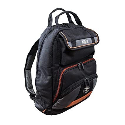 48e6bf172 Backpack, Electrician Tool Bag, Tradesman Pro Organizer, 35 Pockets for  Hand Tools and Gear Klein Tools 55475 - - Amazon.com