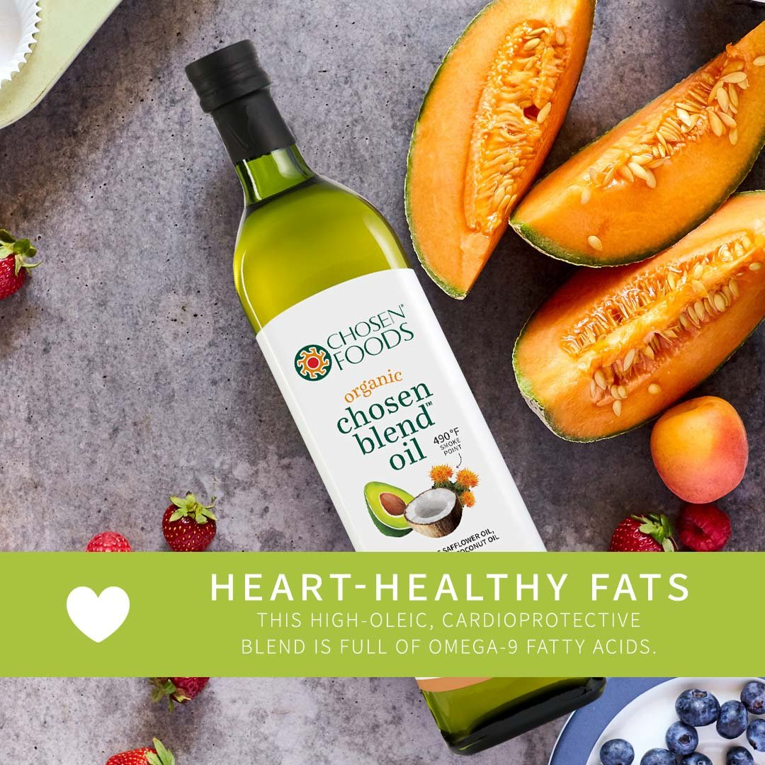 Chosen Foods Organic Chosen Blend Oil 1 L, Non-GMO for High-Heat Cooking, Baking, Frying, 490° F Smoke Point by Chosen Foods (Image #8)