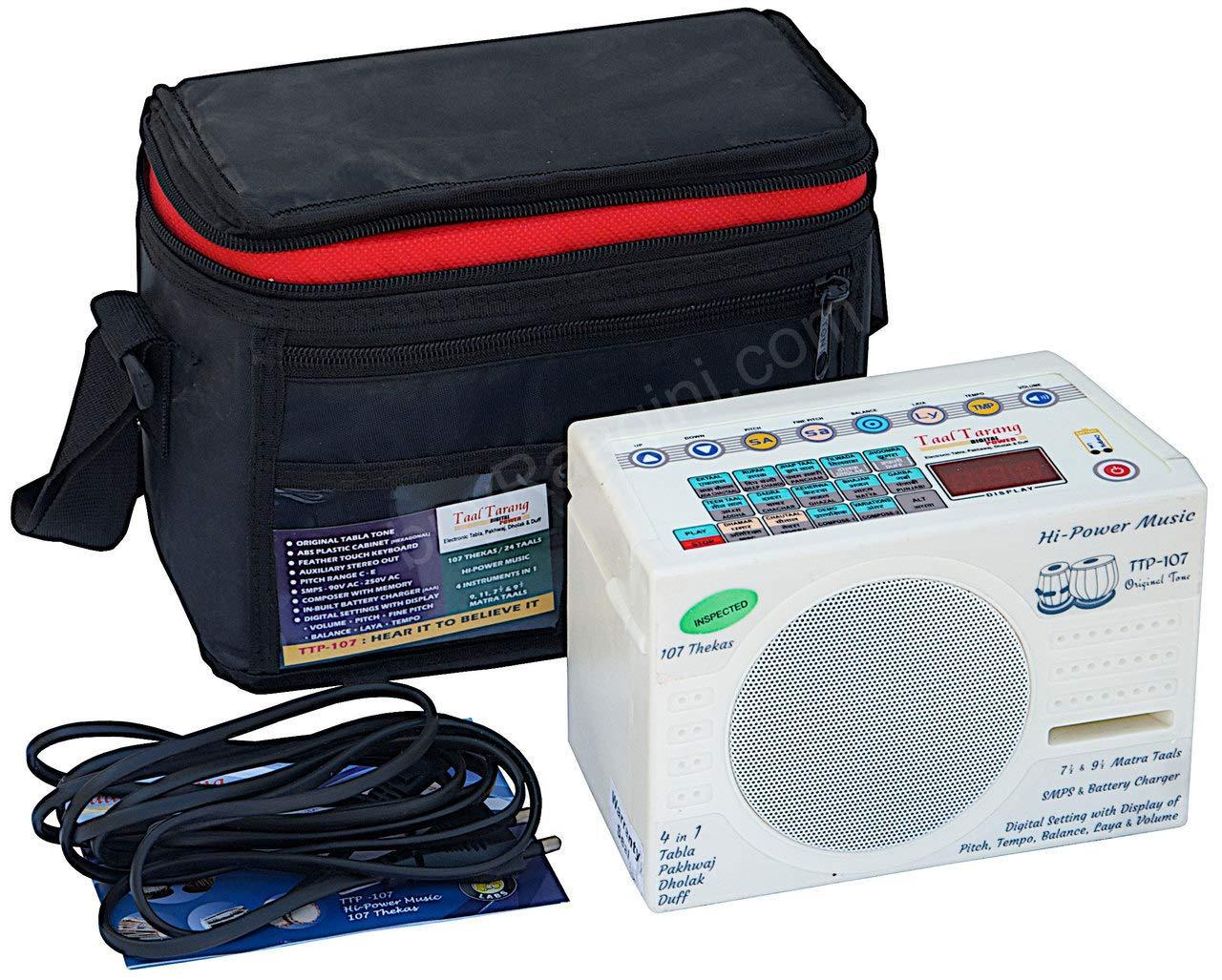 Electronic Tabla - Taal Tarang Digital Power Tabla Drum Kit, In USA, Electronic Tabla Machine by Sound Labs, Tabla Sampler, With Bag, Instruction Manual, Power Cord (PDI-HC) by Sound Labs by buyRaagini.com