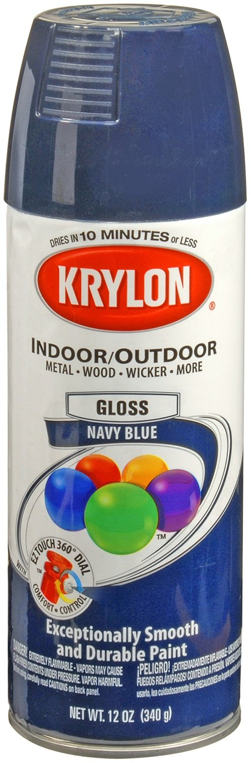 Amazon.com: Krylon 51907 Navy Blue Interior And Exterior Decorator Paint    12 Oz. Aerosol: Automotive