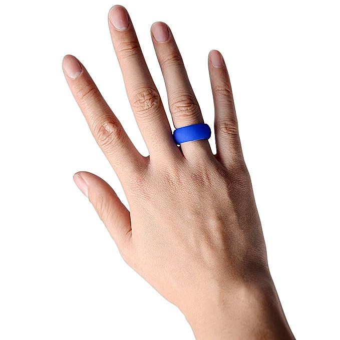iNeibo Anillo silicona boda, anillo medicinal, anillo silicona, para hombres y mujeres, perfecto para la gente deportiva, y para los aventureros al aire ...