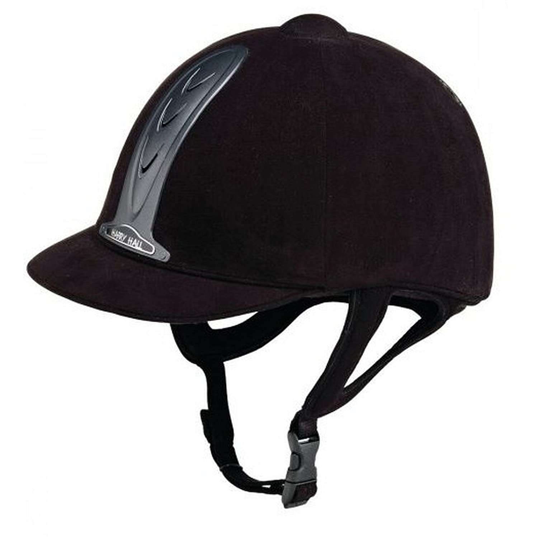 (ハリーホール) Harry Hall キッズ子どもジュニア レジェンド PAS015 ライディングハット 帽子 ヘルメット 乗馬 B079GJY6BK ブラック サイズ6 3/8 (52cm)