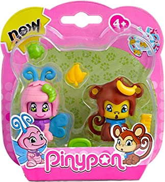 Pinypon Pack 2 mascotas, mariposa y mono (Famosa) (700012732 ...