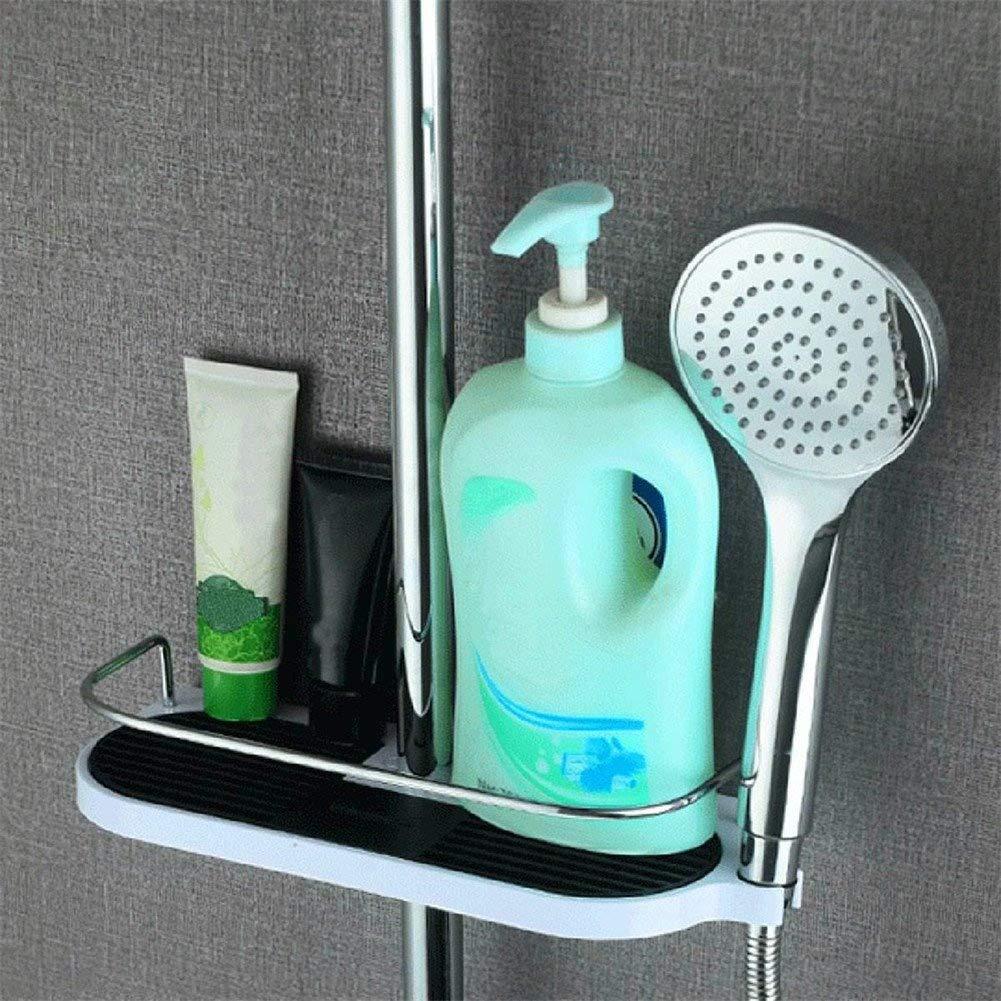 Shower Caddy Shelf Telescopic Pole No Drill Shower Organiser, Corner ...