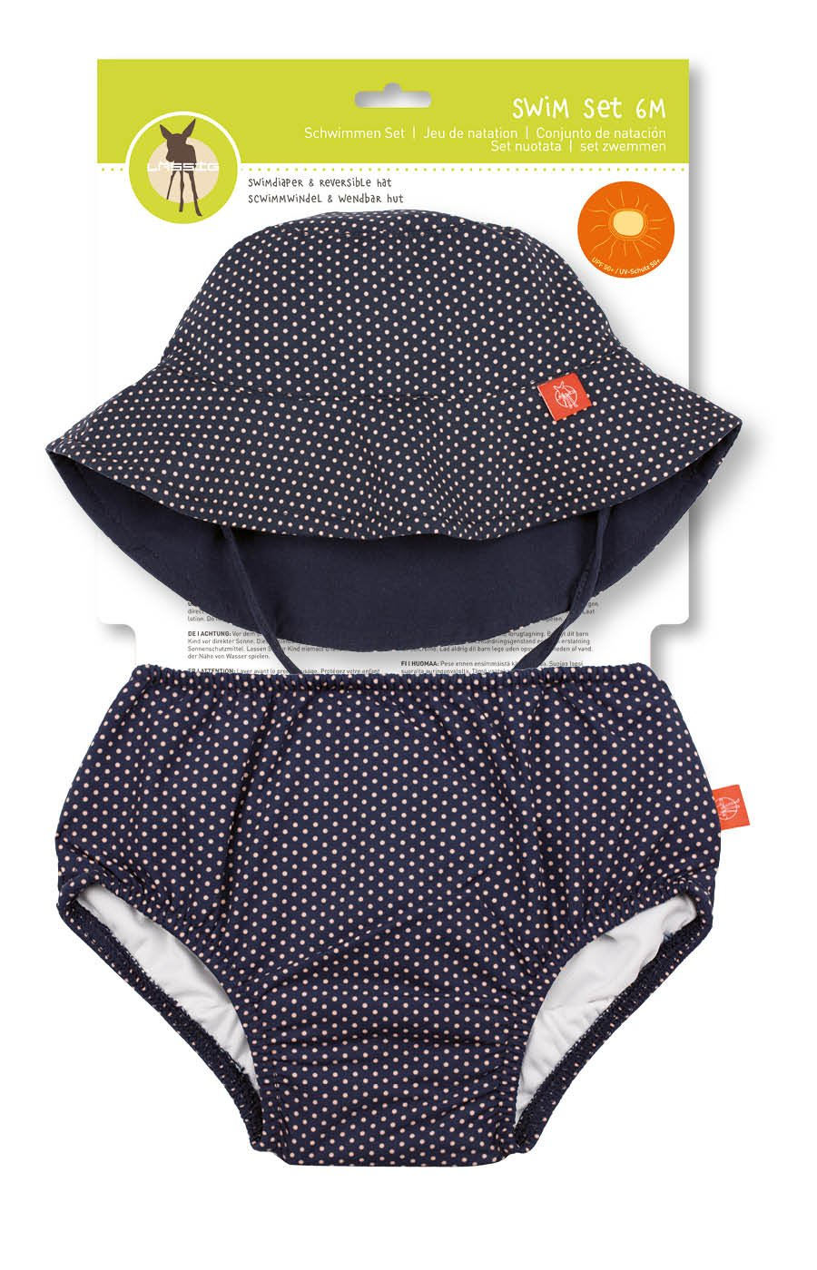 Lässig 1431010212 - Juego de gorra y pañales para bebé naranja Sun Talla:6 meses Laessig GmbH 1431011803/6M